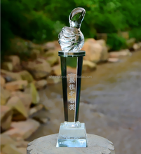 Thumb Champion Crystal Glass Award Trophy Cup