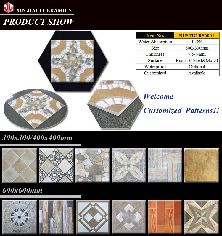 High Quality Building materials 300x300mm Cobblestone Surface Rustic Mould Brick Tile