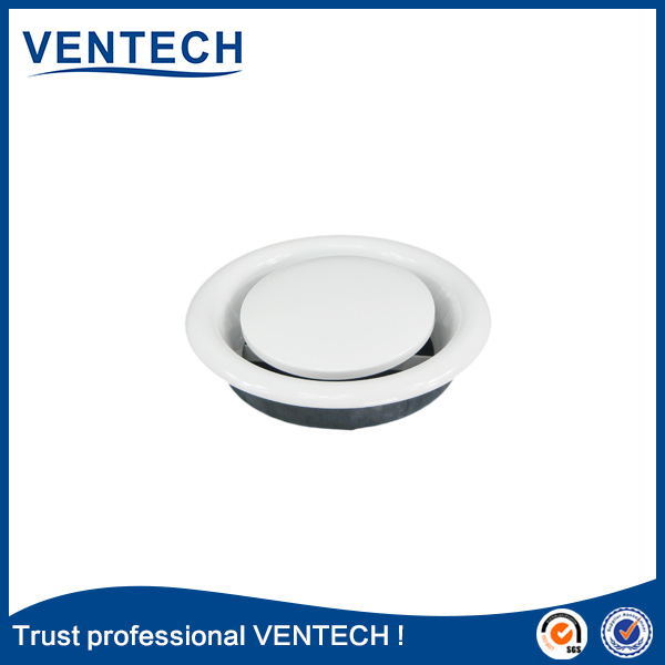 HVAC central air conditioning mental disc valve air duct round disk valve air vent valve for ventilation
