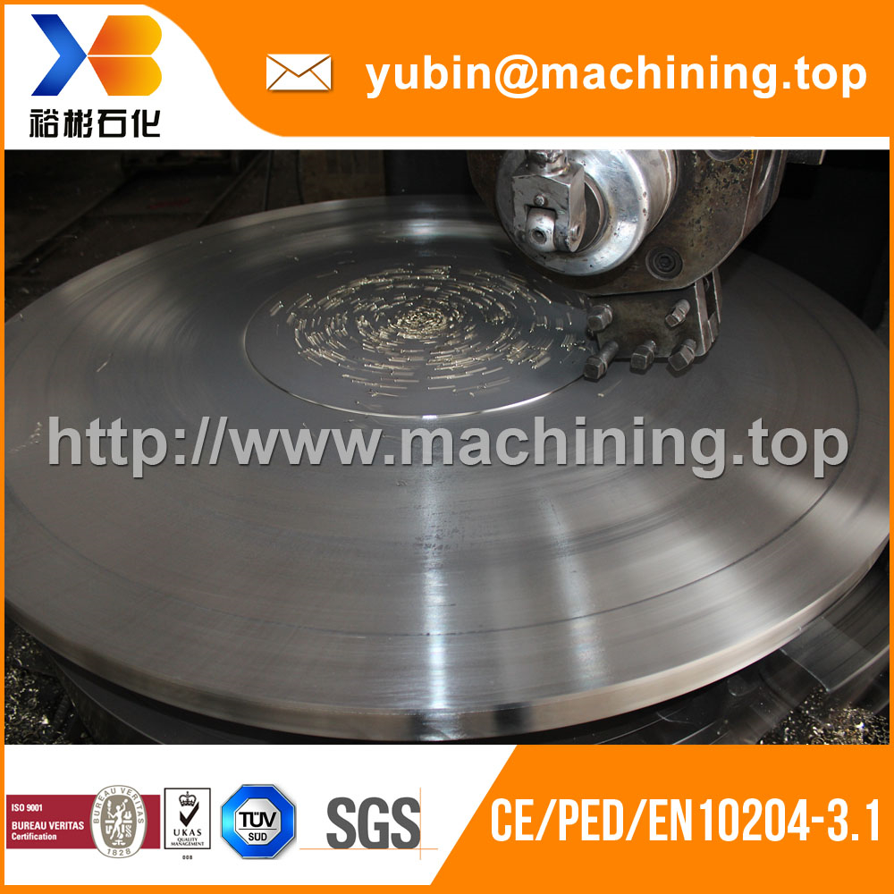 Explosive welding stainless steel 316L+forging SA266 Gr2 cladded disk