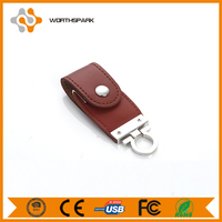grade A 4gb leather USB flash disk with full capacity