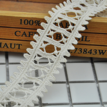 Wholesale good price fashion cotton ladder embroidered lace trim WLC-539