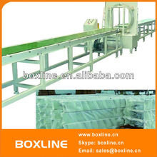 Automatic orbital horizontal stretch wooden board wrapping machine