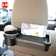 Car food drink desk black snack tray table with cup holder