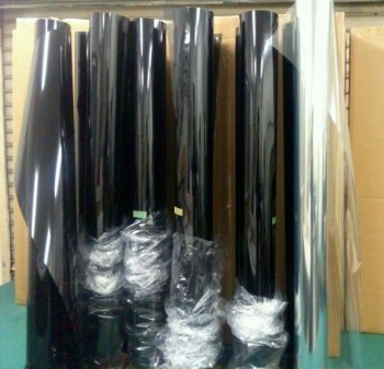 Ultra Black -- car door glass solar mirror films