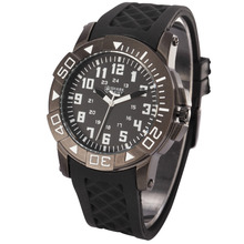 Shark Army Rubber Analog Quartz Military Mens Army Sport Watch