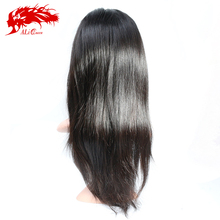 Comfortable and populare virgin silk base human hair top closure lace wigs lace front wigs