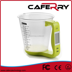 Caferry Digital Kitchen Scale Food Scale Measuring Cup 600m Large Volume Plastic Bowl Colorful Design
