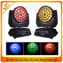 36x10w led moving head, RGBW quad-in-1 36x10w zoom led moving head wash