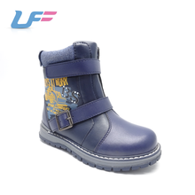 winter cow boy blue cool cute pu leather boots for little kids