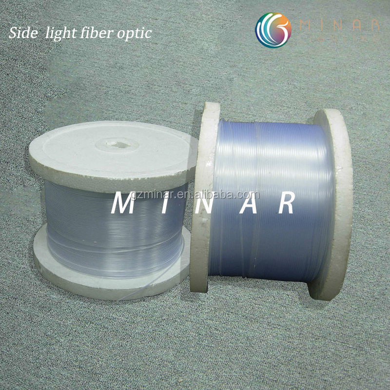 China supplier 6mm pmma polymer decorative side glow plastic fiber optic in roll
