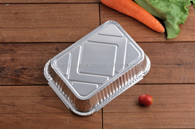 Aluminium foil chicken grill lunch box alumunium food packaging container