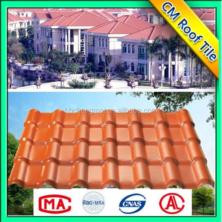 Environment Friendly Light Weight Corrugated Pvc Plastic Roof China Tile