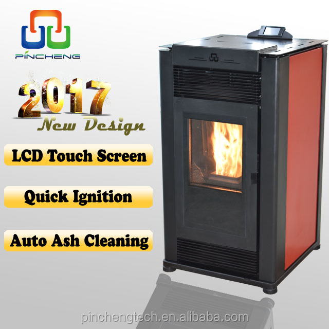 Auto ash clean happy home portable stove with color touch screen controller