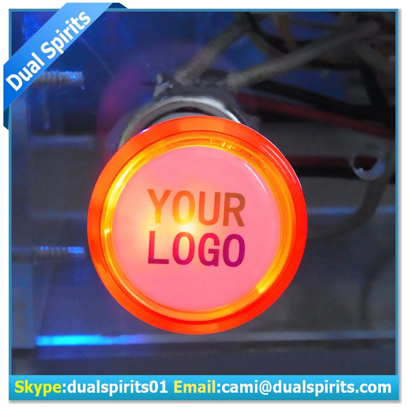 Glow in the dark led light Car Dual USB Smart LOGO Charger with LED light