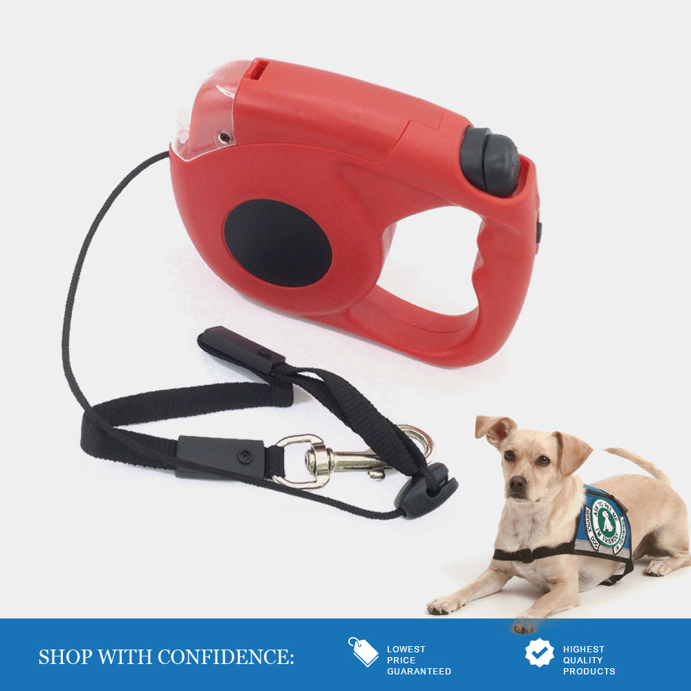 bright led running dog leash retractable leash