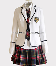 Factory OEM Latest Dress Designs School Uniform for girls