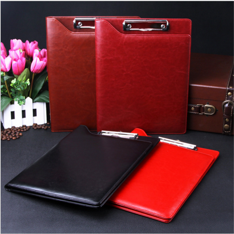 Hot sale factory direct price removable binder zippered padfolio pu leather legal with front calculator pouch a4 padfolios
