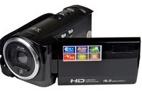 High quality hd digital camcorder 720p with color display and 16x digital zoom/ rechargeable lithium battery video camera