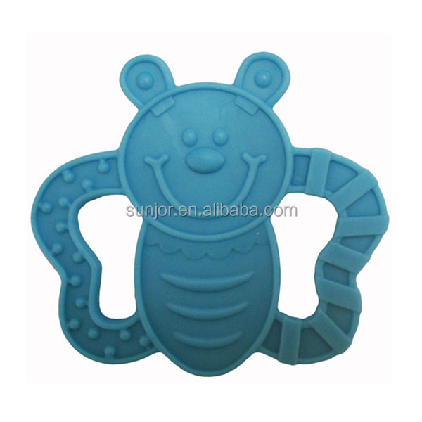 Funny Silicone Rubber Baby Teether Shaped Butterfly