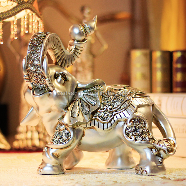 Elephant statues Resin crafts Elephant sculpture Resin animal figurine for home decor