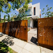decorative corten steel villas metal fencing gate for backyard