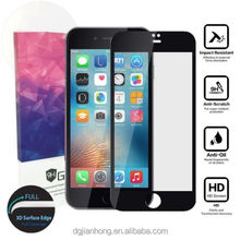 "most cost efficient free sample anti shock colored tempered galss screen protector for red iPhone plus(5.5""Screen)"