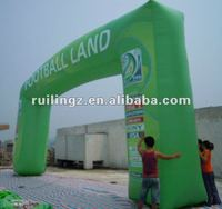 RUILIN Event Inflatable Advertising Arch with Full Printing in Green