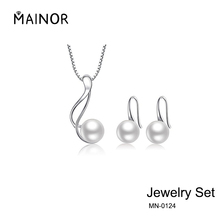Best Sterling Silver Freshwater Cultured Pearl Jewelry Necklace Earrings Set For Women