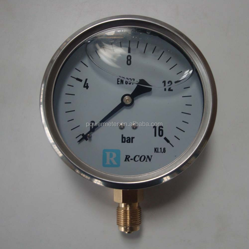 2017 hot sale measuring instruments price pressure gauge
