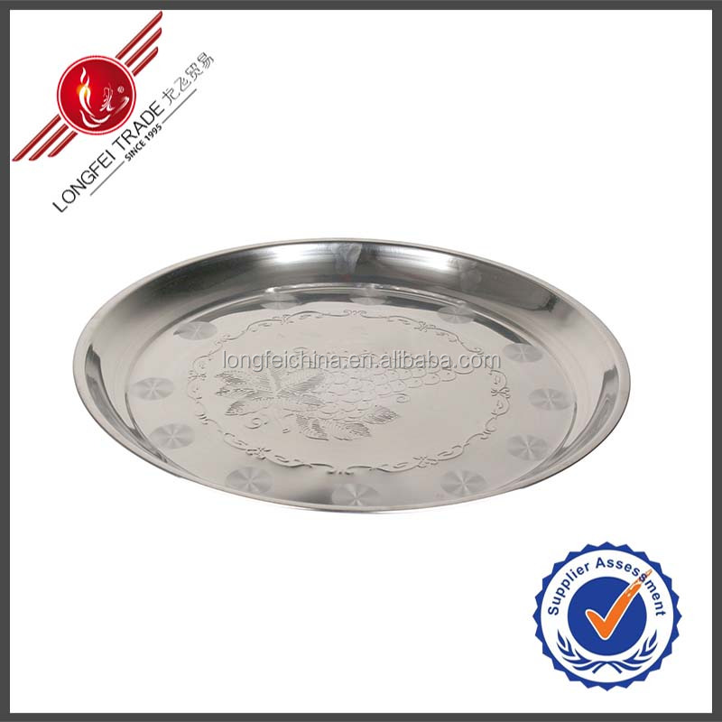 Stainless Steel Food Tray <strong>Plate</strong>/Silver Plated Serving Trays