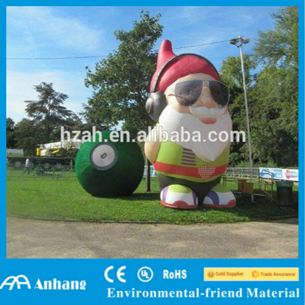 Outdoor Lawn Inflatable Santa Claus Western Christmas Decorations