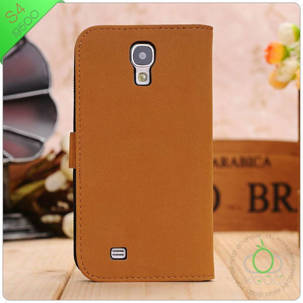 stand leather case flip cover for samsung galaxy s4 i9500