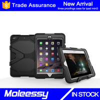 Factory wholesale waterproof for ipad silicone+pc hybrid cases hard armor for ipad mini 7 inch tablet case cover