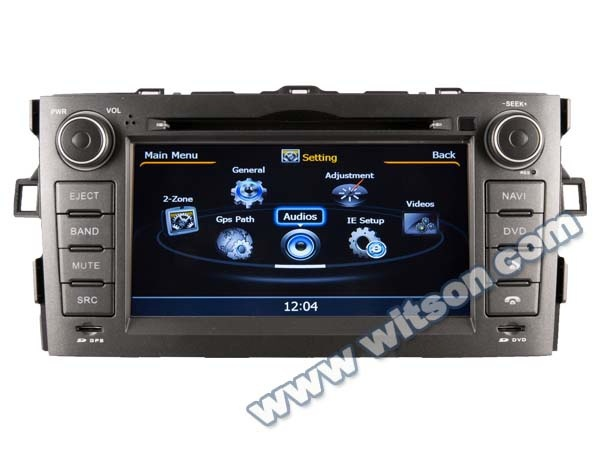 WITSON FOR TOYOTA AURIS 2007-2011 RADIO DVD PLAYER with iPhone ready