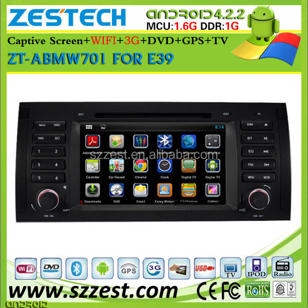 ZESTECH Pure android car gps stereo radio audio for bmw e39 e53 x5 m5 car multimedia system android 4.2.2