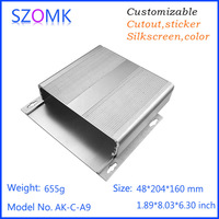 48*204*160mm injection mold aluminum housing project juction case for electronics