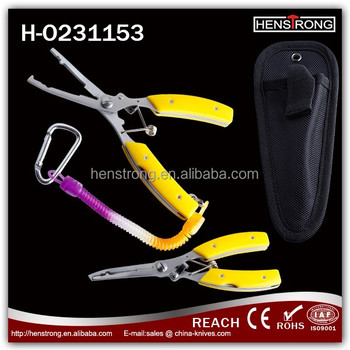 Regular Fishing Equipment Pliers With Plastic Handle For Boat Fishing