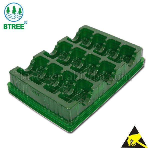 BTREE plastic vacuum packaging blister electronic component tray