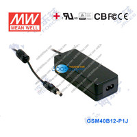 GSM40B12-P1J 40W 12V3.34A MeanWell medical type external desktop power supply adapter