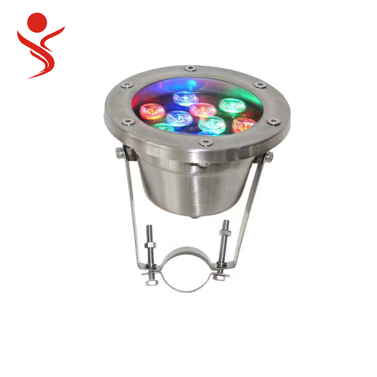 304 stainless steel ip68 energy saving lamp dmx led underwater pool fountain light