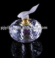 elegant decoration purple 5 ml crystal perfume bottles with atomizers