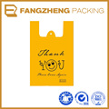 Customize Printing Supermarket Plastic T Shirt Bags , High Quality T Shirt Bag, Plastic shopping Bag