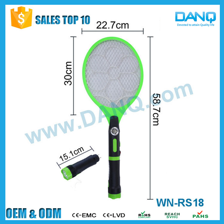 WN-RS18 Rechargeable Torch Mosquito Bat LED Flashlight Mosquito Bat for Pest Control