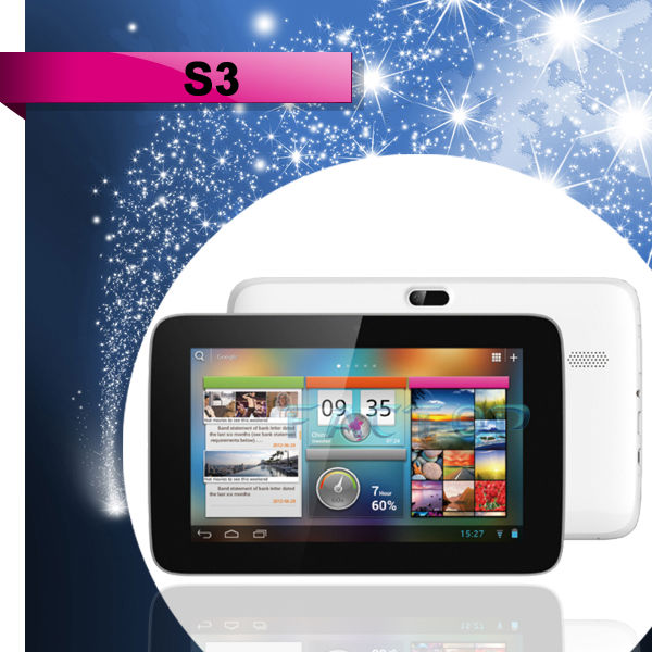 7 inch andriod tablet pc IPS 1024*600P bluetooth PIPO S3 dual core