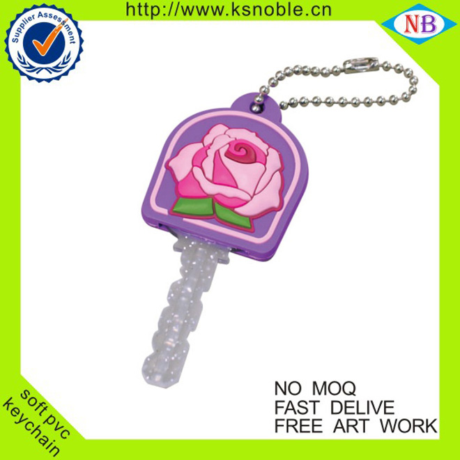 Personalized New Style Customized cute souvenir silicon keychain