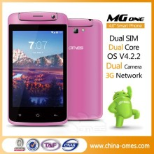 Africa Hot Selling MG1 Dual Core 3G Dual sim android 4.4 cellphone 4.0 inch
