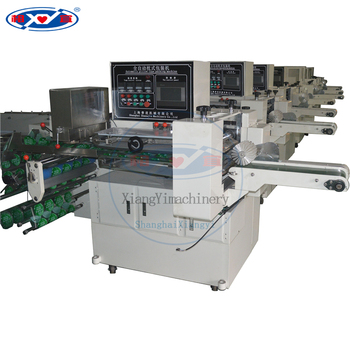 automatic horizontal flow pillow bread packaging machinery for snacks packing machine