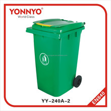 240 liter color coded plastic large garbage bins