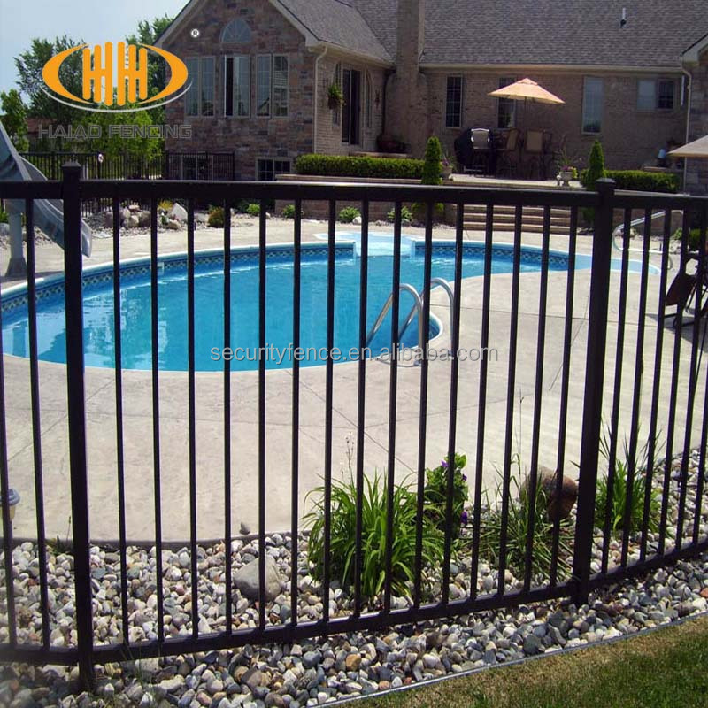 Cheap Building material Residential Aluminum steel iron swimming pool orange plastic safety fence
